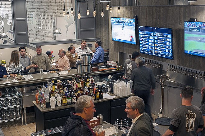 A view of the bar. - PHOTO BY KELLY GLUECK