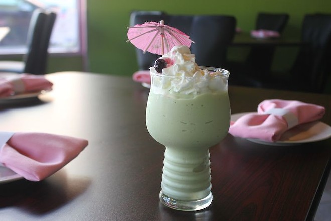 An avocado smoothie features avocados cut and pureed before your eyes. - PHOTO BY SARAH FENSKE