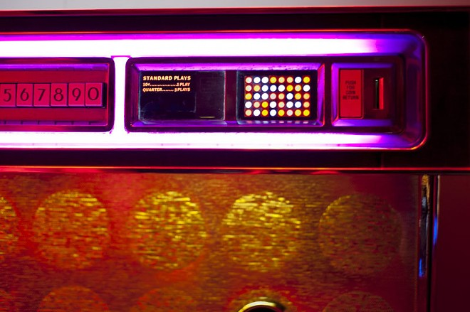 It's ten cents to play one song or three for 25 cents. You may never step away from the jukebox. - PHOTO BY KELLY GLUECK