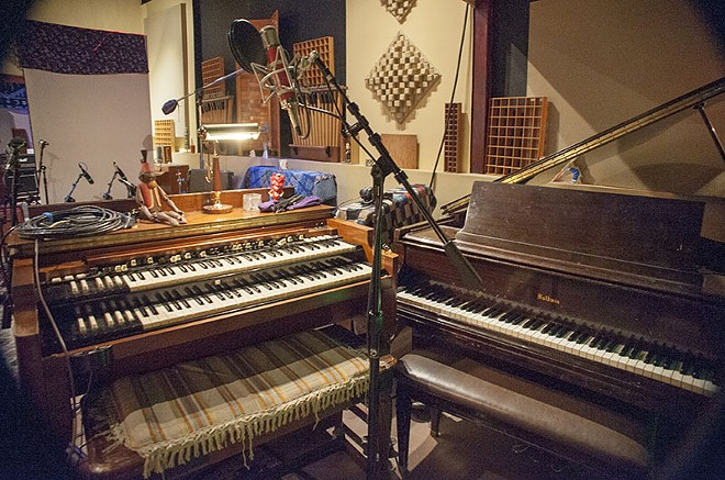 Just some of the world-class gear housed in Sawhorse Studios. - PHOTO BY KELLY GLUECK