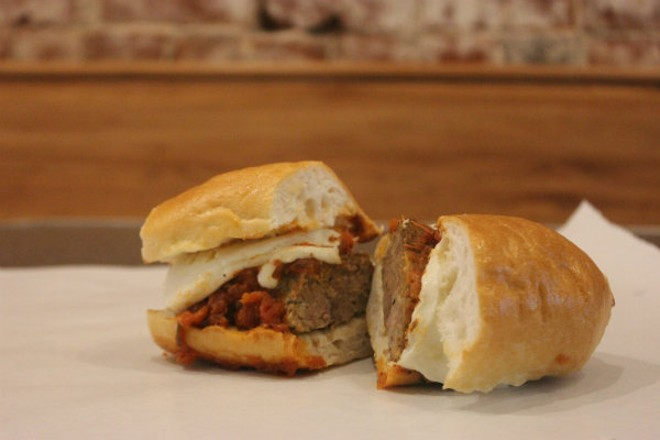 The meatloaf sandwich is Byron Smith's user-friendly answer to the meatball sandwich. - CHERYL BAEHR
