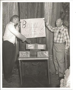 The Bridal Cave Underground Opinion Poll started in 1960. - PHOTO COURTESY OF BRIDAL CAVE & THUNDER MOUNTAIN PARK.