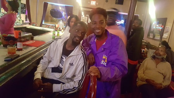 Rasheen Aldridge, right, with Bruce Franks Jr., has been elected to the St. Louis' Democratic Party's central committee. - PHOTO BY DANNY WICENTOWSKI