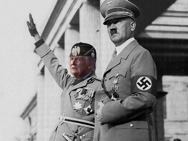 Il Duce and an old friend. - PHOTO ILLUSTRATION BY KELLY GLUECK