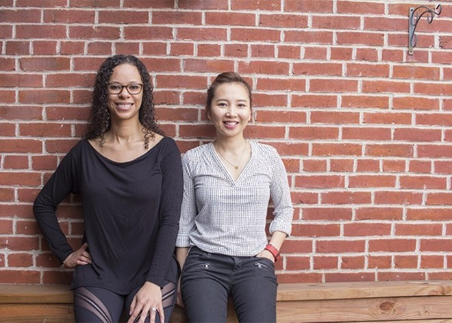 Co-owners Misha K. Sampson (left) and Alexis Kim in happier times. - PHOTO BY MABEL SUEN