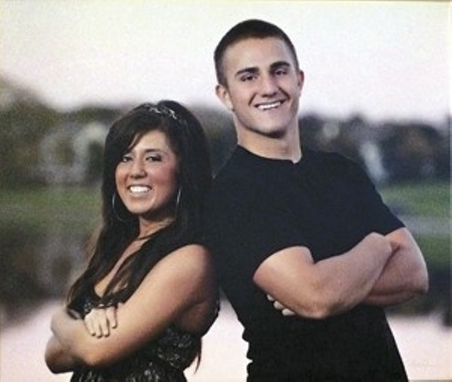The late Brandon Ellingson, right, with his sister Jennifer. - COURTESY OF CRAIG ELLINGSON