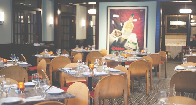 Herbie's new dining room in Clayton contains touches of both its predecessor (Cardwell's) and its inspiration (Herbie's in the Central West End). - PHOTO BY KELLY GLUECK