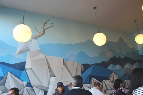 The mural was painted by Chelsea Ritter-Soronen. - PHOTO BY LAUREN MILFORD