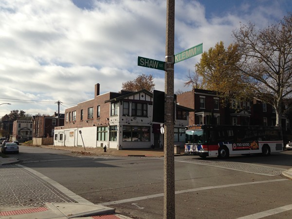 The corner of Shaw Boulevard and Klemm Street has been the scene of frightening violence in the Shaw neighborhood. - PHOTO BY DOYLE MURPHY