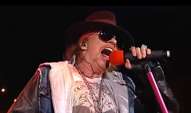 A modern-day Axl Rose. Guns N' Roses will perform at the Dome at America's Center on Thursday, July 27. - SCREENSHOT FROM VIDEO BELOW