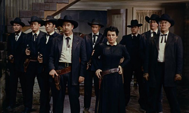 Mercedes McCambridge (center) is the shrill adversary in Johnny Guitar.