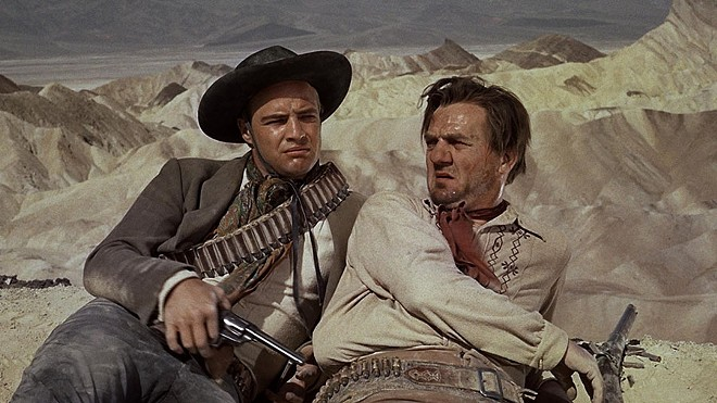 Marlon Brando and Karl Malden star as former partners on a collision course in One-Eyed Jacks.