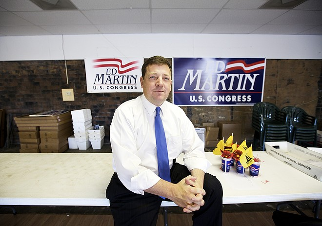 Ed Martin earned a rare Tea Party endorsement in his run for Congress. - PHOTO BY JENNIFER SILVERBERG