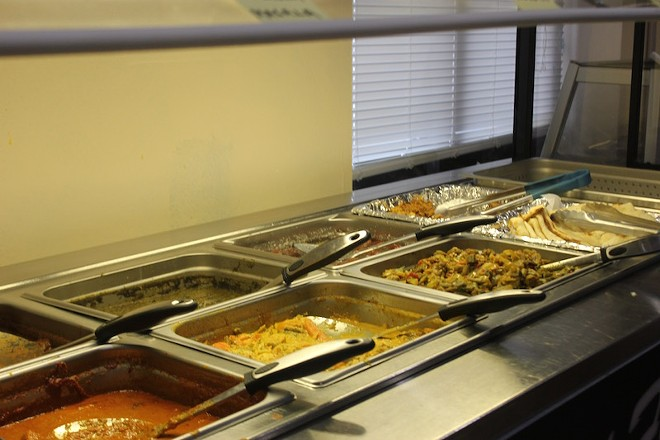 A buffet features all the normal Indian standards, along with a salad bar featuring tossed salads in addition to the usual raitas and sauces. - PHOTO BY SARAH FENSKE