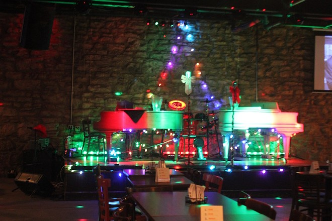 Dueling pianos take center stage. - PHOTO BY SARAH FENSKE
