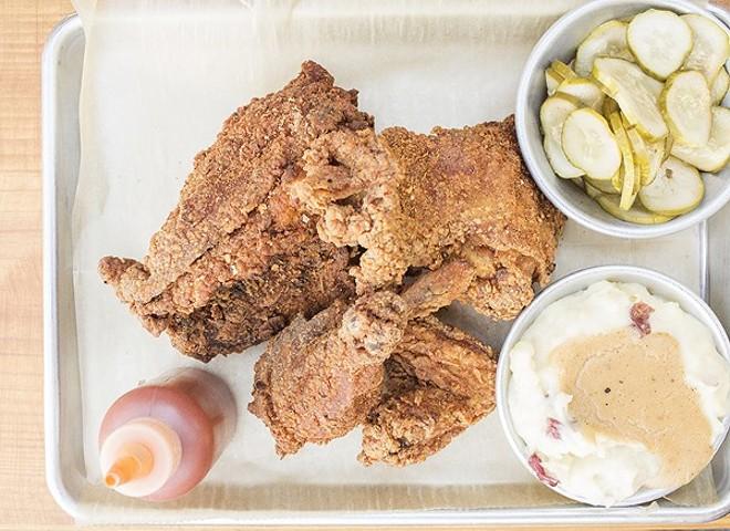 Byrd & Barrel's fried chicken. - PHOTO BY MABEL SUEN