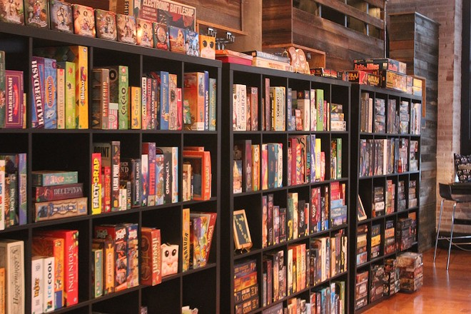 The cafe's library includes more than 500 games. - PHOTO BY SARAH FENSKE