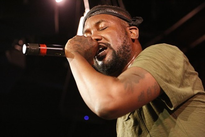 Tef Poe headlines the appropriately titled PoeFest on Sunday at Delmar Hall. - PHOTO BY CHRIS HAZOU