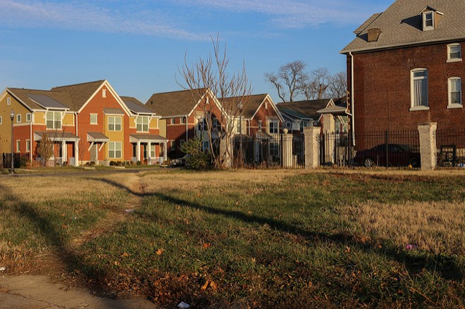 Infill housing in the city's Vandeventer neighborhood. - PHOTO COURTESY OF FLICKR/PAUL SABLEMAN