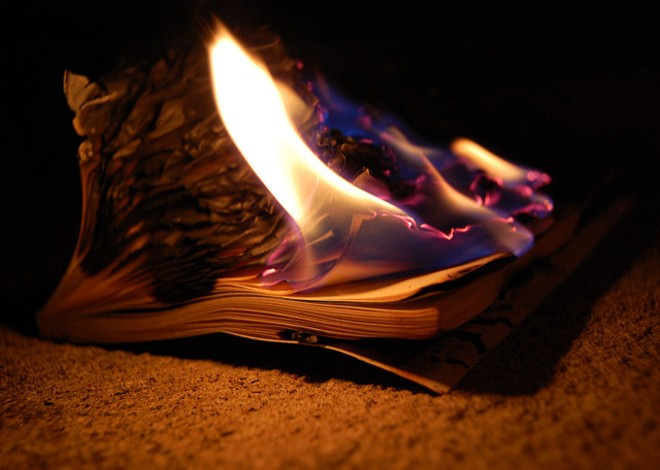 Books make terrible kindling and don't belong on dumb lists. - PHOTO VIA FLICKR/COLLECTIVE NOUNS