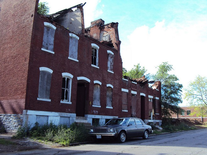 Neglected housing stock is just one problem plaguing some north St. Louis neighborhoods. - PHOTO COURTESY OF FLICKR/PAUL SABLEMAN