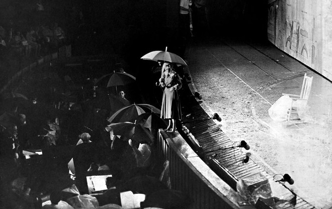 Debbie Reynolds, fittingly, sings one of the songs that made her career during a rain delay at the Muny. - PHOTO COURTESY OF THE MUNY