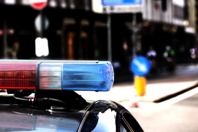 Normandy's public works director had blue-and-red lights on his pickup — even though police confirmed he wasn't a cop. - SHUTTERSTOCK/CHICCODODIFC