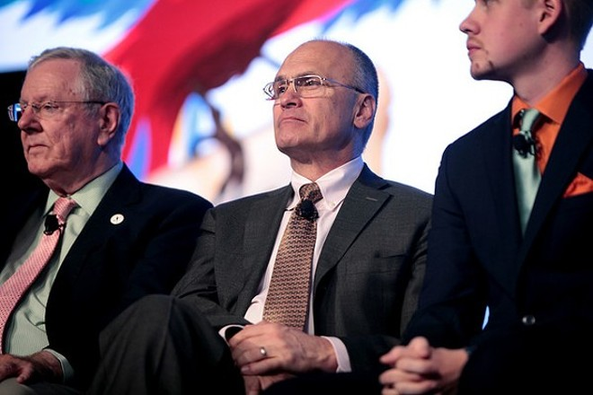 Andrew Puzder: Allegations of abuse in his first marriage have dogged the nominee. - PHOTO COURTESY OF FLICKR/GAGE SKIDMORE