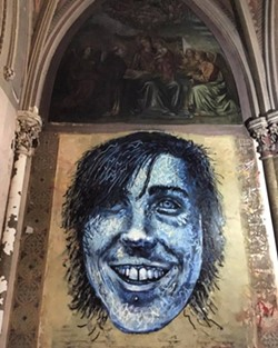 Ryan Brinkmann, in mural form - PHOTO BY BRYAN BEDWELL