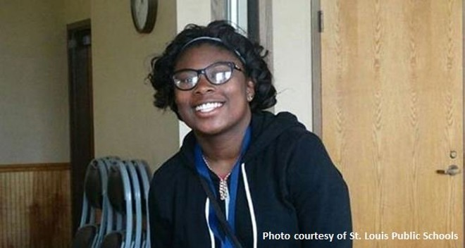 Toni Stevenson, 15, was shot dead after a basketball game on Tuesday, St. Louis police say. - IMAGE VIA ST. LOUIS PUBLIC SCHOOLS