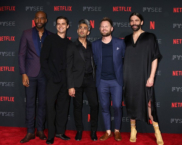 Tan France, center, says people are always surprised to find out that he's actually not short, but that all of his co-stars are extremely tall. - SHUTTERSTOCK.COM / KATHY HUTCHINS