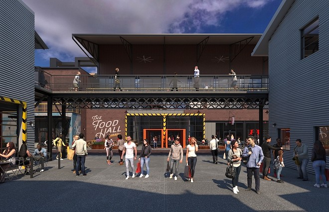 City Foundry's Food Hall will feature numerous vendors. - COURTESY OF CITY FOUNDRY