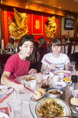Diners tuck into the dim sum offerings at Lu Lu. - PHOTO BY MABEL SUEN