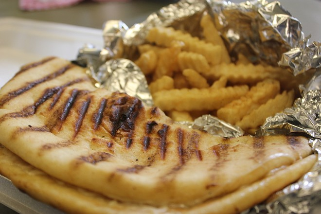 The Hawaiian chicken panini includes pineapple and comes in a flatbread. - SARAH FENSKE