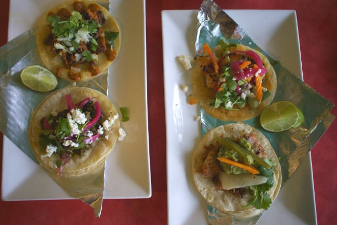 Alta Calle will offer street tacos with carne aside, chorizo, shrimp and carnitas. - CHERYL BAEHR