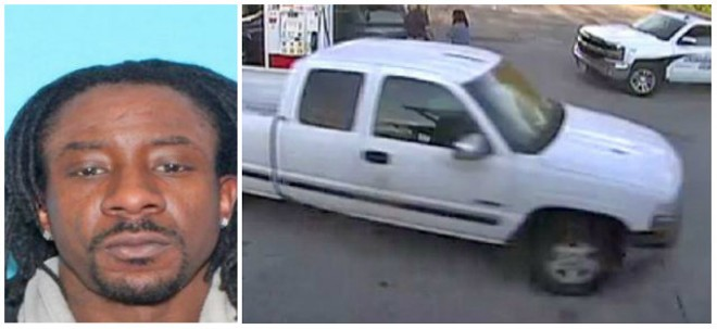 Andrew McKissick may be driving this extended-cab Chevy pickup, police say. - COURTESY O'FALLON, ILLINOIS, POLICE