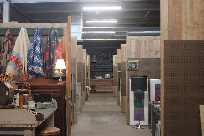 Fifty stalls now fill what was previously an empty industrial warehouse. - SARAH FENSKE
