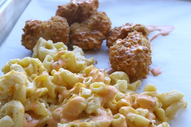 The stoner-themed Fried, one of this month's new openings, offers nugs and a tasty mac-and-cheese. - CHELSEA NEULING