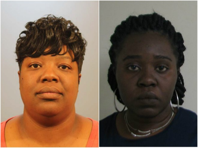 Shavonda Willis and Mary Agbehia forced kids to stand naked in a closet, police say. - COURTESY ST. CLAIR COUNTY STATE'S ATTORNEY