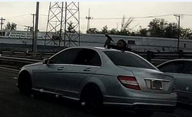 St. Louis police are looking for this guy who shot a woman Tuesday on I-70. - COURTESY ST. LOUIS POLICE