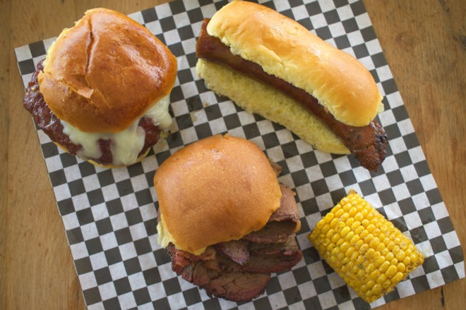 Mann Meats offers smokehouse classics including burgers, brisket and brats. - CHERYL BAEHR