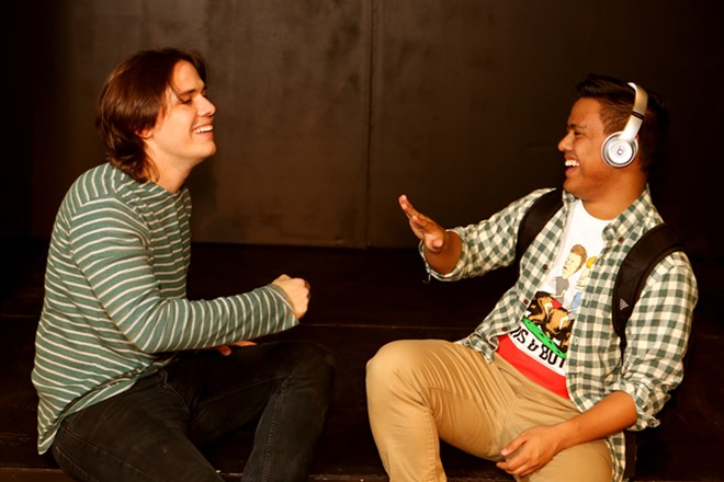 From left ,Jayde Mitchell (Jeremy) and Kevin Corpuz (Michael), in New Line Theatre's Be More Chill, 2019 - JILL RITTER LINDBERG