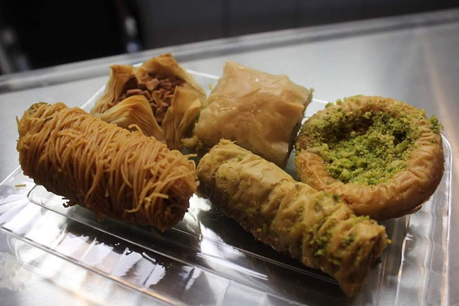 Sedara Sweets & Ice Cream, which opened May 18 in Affton, offers fifteen types of baklava. - KATIE COUNTS