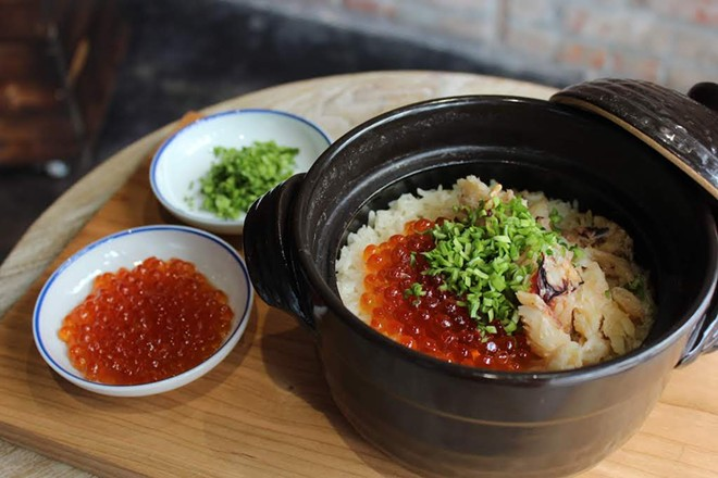 Crab and rice will be served in a donabe, a Japanese clay pot. - KATIE COUNTS