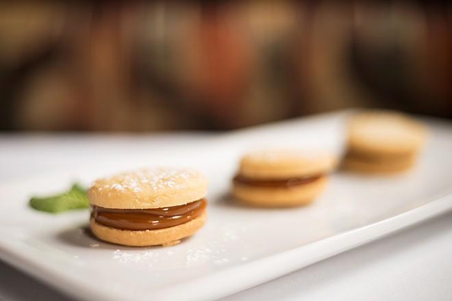 Alfajores, or shortbread butter cookies, are filled with dulce de leche. - MABEL SUEN