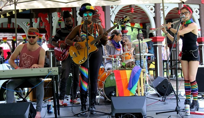 Tower Grove Pride is a DIY alternative to downtown's Pride St. Louis. - LEXIE MILLER