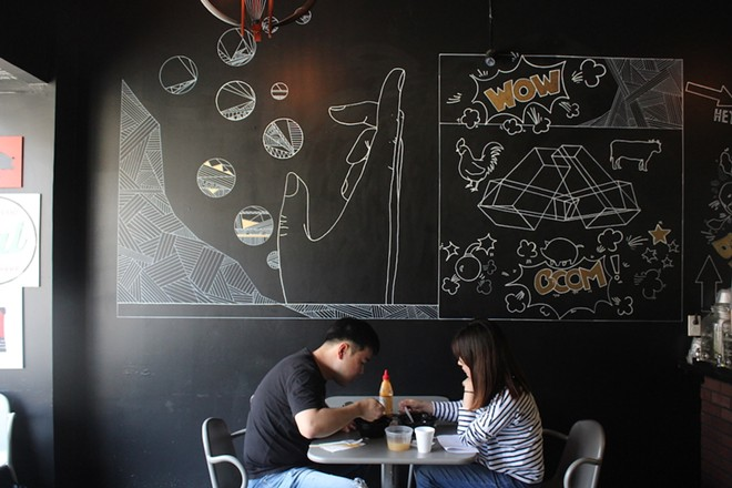 The fast-casual restaurant seats less than twenty diners. - KATIE COUNTS