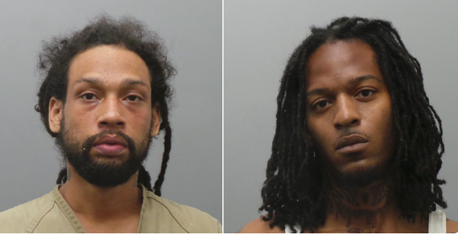 Anthony Watkins, left, and Terrance Wesley were charged in the killings. - COURTESY ST. LOUIS COUNTY POLICE
