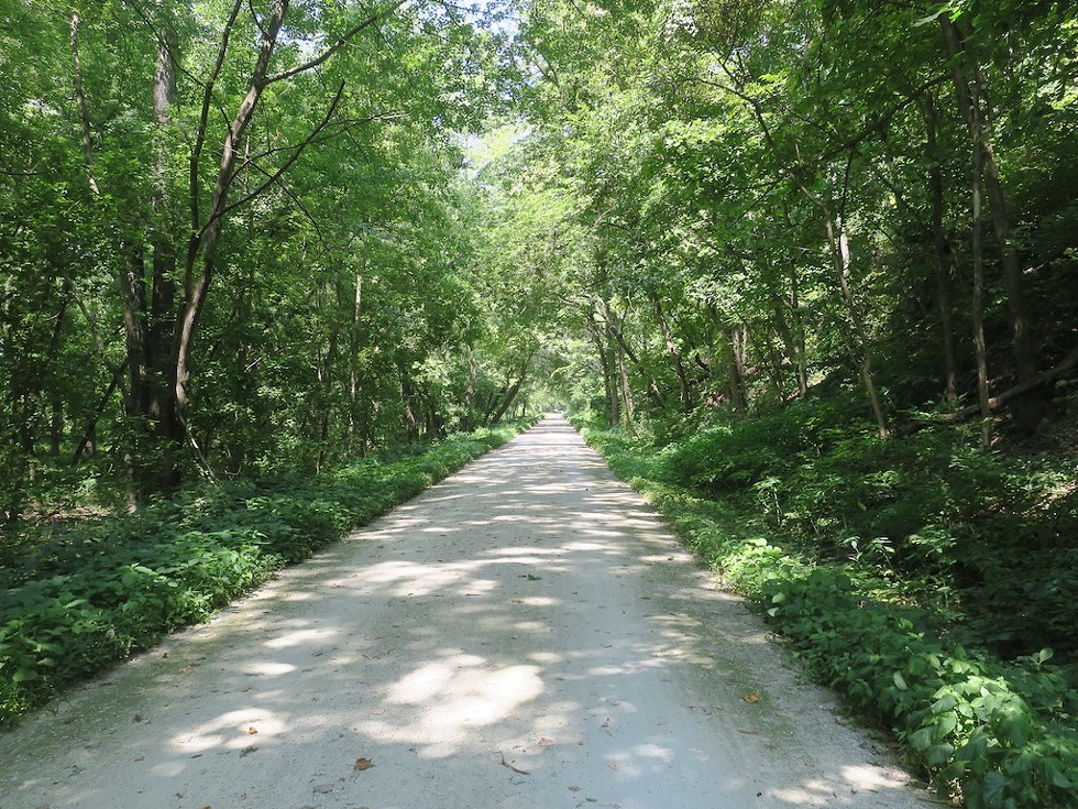 Enthusiasts of the Katy Trail, shown, are livid about the University of Missouri's plans to sell the Missouri Bluffs.