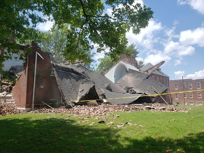 The remains of the Prophesy M B Church. - MELANIE MEYER